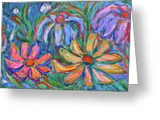 Imaginary Flowers Greeting Card