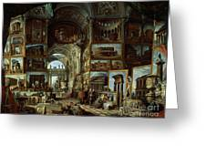 Imaginary Gallery Of Views Of Ancient Rome Greeting Card