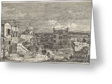 Imaginary View Of Venice Greeting Card