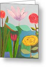 Imagined Flowers One Greeting Card