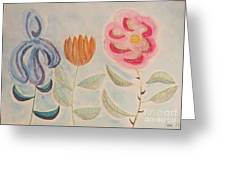 Imagined Flowers Two Greeting Card