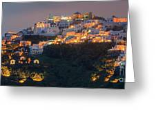 Imerovigli After Sunset, Santorini Greeting Card