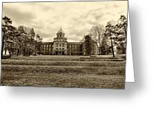 Immaculata University In Black And White Greeting Card