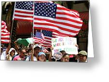 Immigrant Marcher In Orlando Greeting Card
