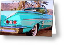 Impala Convertible Greeting Card