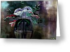 Impatient Painterly Floral Greeting Card