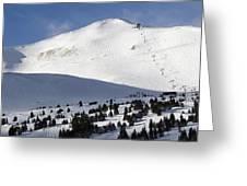 Imperial Bowl On Peak 8 At Breckenridge Colorado Greeting Card