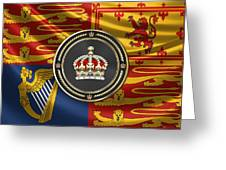 Imperial Tudor Crown Over Royal Standard Of The United Kingdom Greeting Card