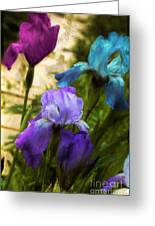 Impossible Irises Greeting Card