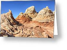 Impossible Rock Formations In The White Pocket Greeting Card