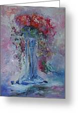 Impression- Flowers And Vase Greeting Card