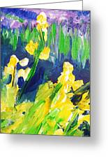 Impression Flowers Greeting Card