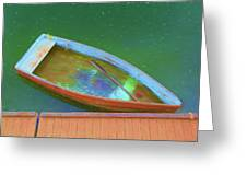 Impression Of A Dinghy Greeting Card