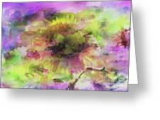 Impression Sunflower Greeting Card
