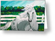 Impressionism Horse Greeting Card