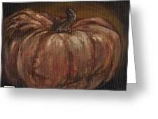 Impressionist Autumn Pumpkin Greeting Card