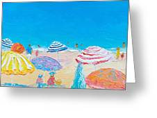 Impressionist Beach Painting Greeting Card
