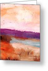 Impressionist Beach Scene Greeting Card