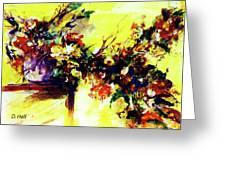 Impressionist Flowers #112, Greeting Card