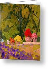 Impressionist Garden  Greeting Card
