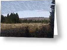 Impressionist Meadow Greeting Card