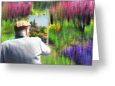 Impressionist Painter Greeting Card