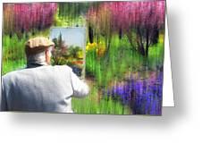 Impressionist Painter Greeting Card