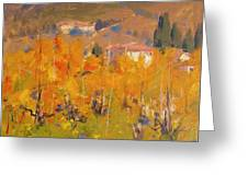 Impressionist Vineyard - Tuscany Greeting Card