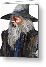 Impressionist Wizard Greeting Card