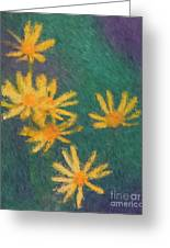 Impressionist Yellow Wildflowers Greeting Card