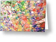 Impressionistic Floral Fantasy  Greeting Card