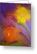 Impressionistic Flowers Greeting Card