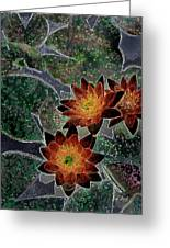 Impressionistic Lilies Greeting Card