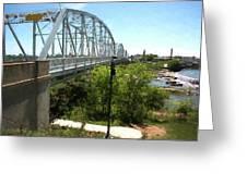 Impressionistic Llano Bridge Greeting Card