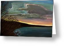 Impressionistic Twilight Greeting Card