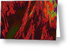 Impressions Of A Burning Forest 10 Greeting Card