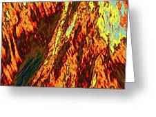 Impressions Of A Burning Forest 11 Greeting Card