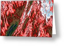 Impressions Of A Burning Forest 12 Greeting Card
