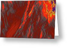 Impressions Of A Burning Forest 6 Greeting Card