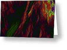 Impressions Of A Burning Forest 9 Greeting Card