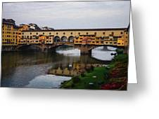 Impressions Of Florence - Ponte Vecchio Autumn Greeting Card