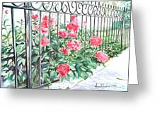 Imprisoned Peonies Greeting Card