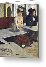 In A Cafe Greeting Card by Edgar Degas