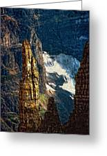 In A High Place Impasto Greeting Card