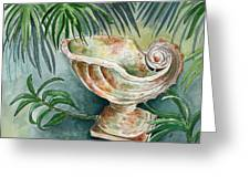 In A Tropical Garden  Greeting Card
