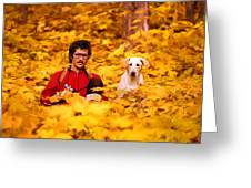 In A Yellow Wood - Paint Greeting Card