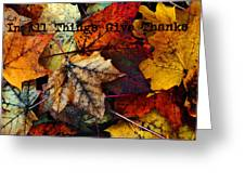 In All Things Give Thanks Greeting Card
