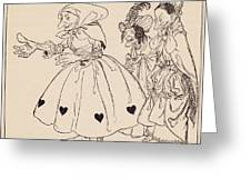 In Came The Three Women Dressed In The Greeting Card