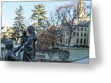 In Celebration Of Family Notre Dame 2 Greeting Card