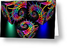 In Different Colors Thrown -9- Greeting Card by Issabild -